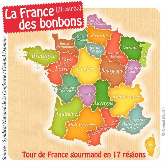 Une carte de France des régions
