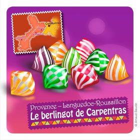 Berlingots petits bonbons rayés et colorés