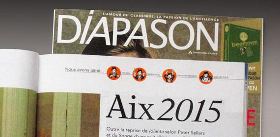 Zoom sur mes illustrations dans le magazine Diapason