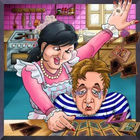 La colère de la ménagère contre son mari qui jouait aux cartes Yu-Gi-Oh!