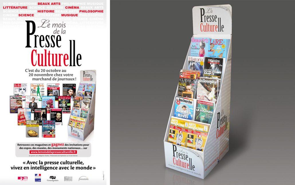 Photos de l'identité visuelle 2011 de la Presse Culturelle - Mots mêlés sur fond gris