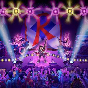 La scène d'un concert de rock où joue le Renégat, mon musicien mystique imaginaire